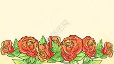 玫瑰花清新背景图片
