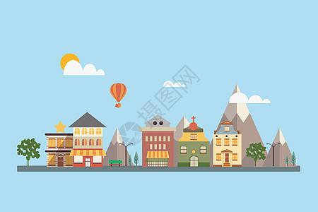 旅行城镇建筑街道风景图片