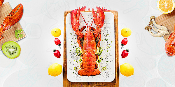 美味龙虾图片