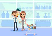 一家人超市购物图片