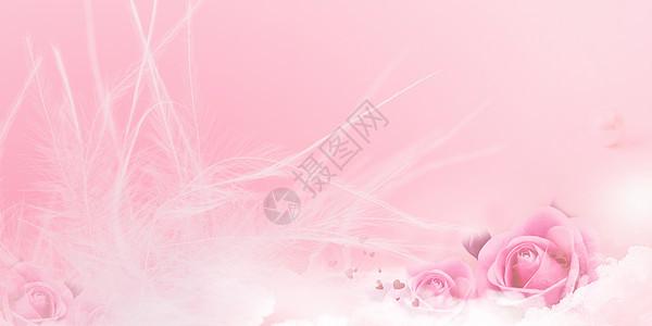粉色浪漫花朵背景图片