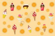 夏天冰淇淋背景图片