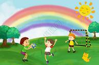 六一儿童节插画图片