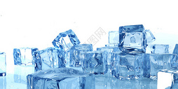 清新凉爽冰块背景图片
