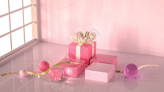 粉色清新浪漫场景图片