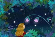丛林探索的女孩图片