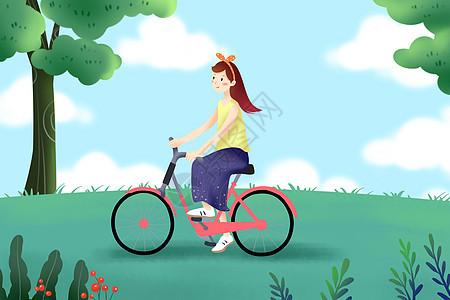 骑自行车 郊游图片