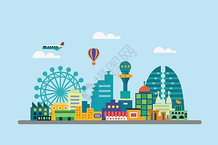 城市建筑风光图片