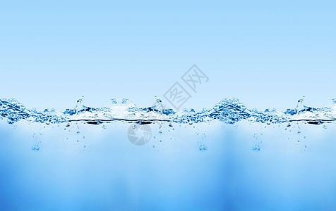 夏季清凉水背景图片