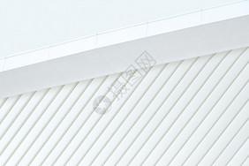 白色室外建筑屋檐背景图片
