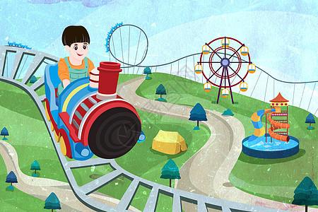 六一儿童游乐园过山车图片