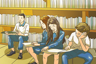 校园插画图片