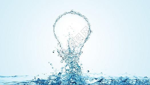 创意水纹灯泡图片
