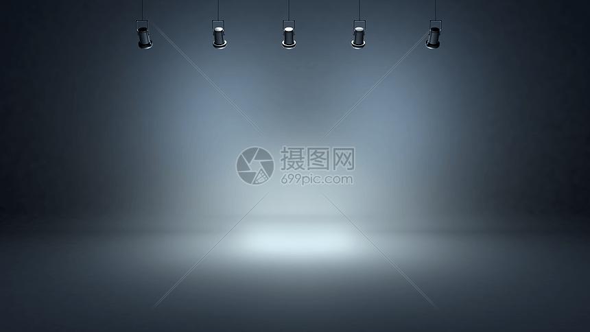创意射灯舞台场景图片