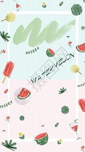 夏日清爽西瓜壁纸图片