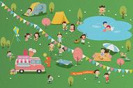 儿童节郊游图片