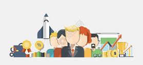 商务办公团队合作图片