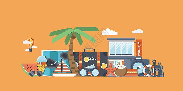 夏天旅行旅游banner图片