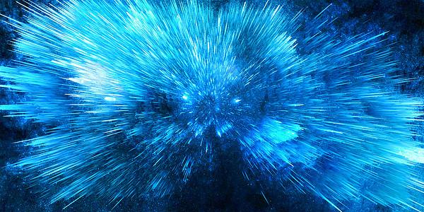 蓝色宇宙星空背景图片
