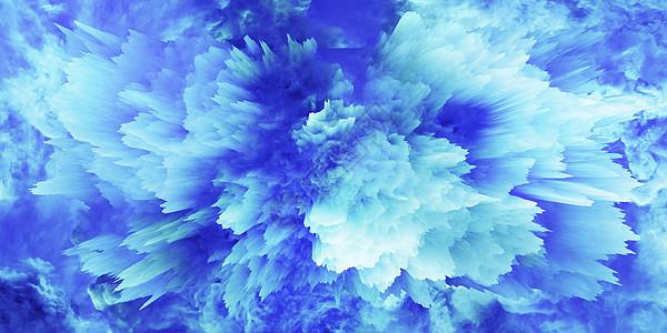 蓝色渐变抽象背景图片