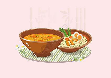 高汤营养面美食图片