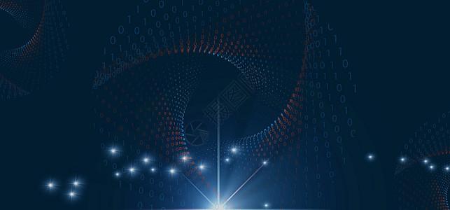 深蓝色科技背景素材图片