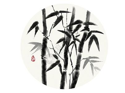 水墨竹子图片
