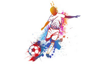 炫彩足球图片