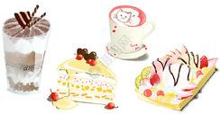 彩色甜品甜点插画图片