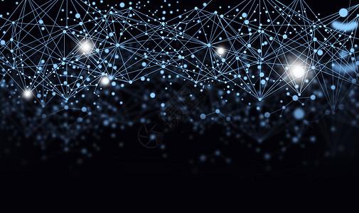 分子结构科技背景图片
