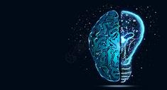 创意大脑科技背景图片