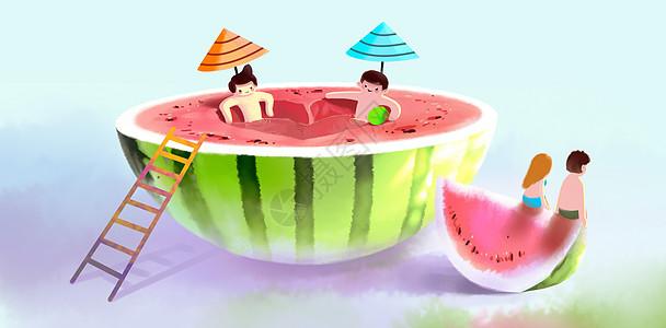 夏天创意西瓜图片
