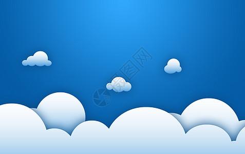 渐变简约云朵背景图片