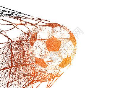 世界杯粒子剪影图片