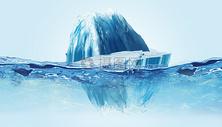 冰山清凉背景图片