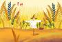 芒种的麦田图片