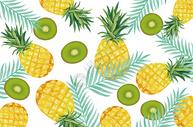 夏天菠萝水果图片