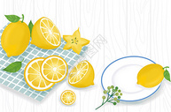 夏天柠檬水果图片