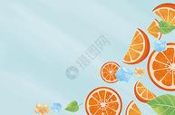 夏天橙子水果图片