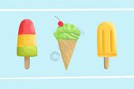 夏日冰淇淋素材图片