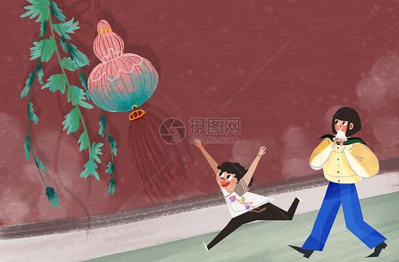 端午节手绘插画背景粽子图片