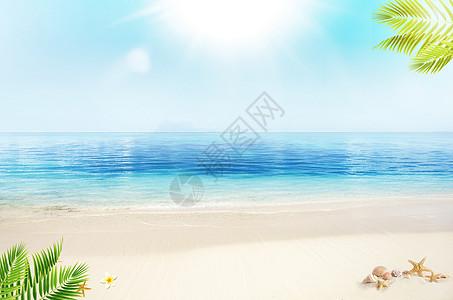 夏日海滩背景图片