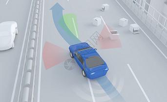 智能科技车辆操控引导背景图片