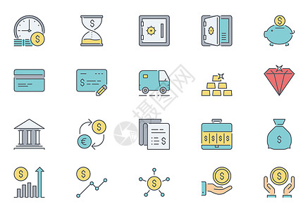 金融元素图标icon图片