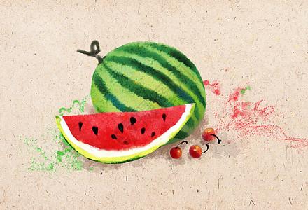 西瓜插画图片