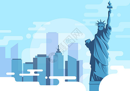 美国自由女神像图片