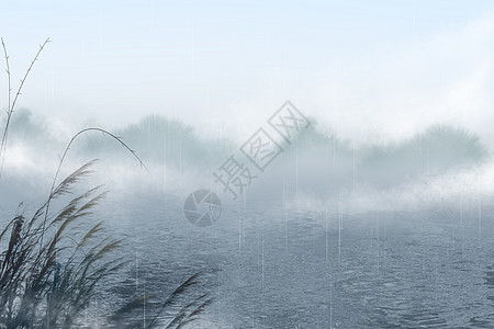 山水芦苇图片