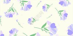 清新紫色花朵插画图片