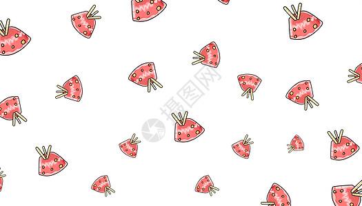 清新食品甜点插画图片
