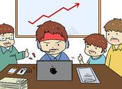 工作效率漫画图片